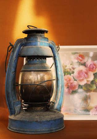 oillamp: Old rusty oil lamp