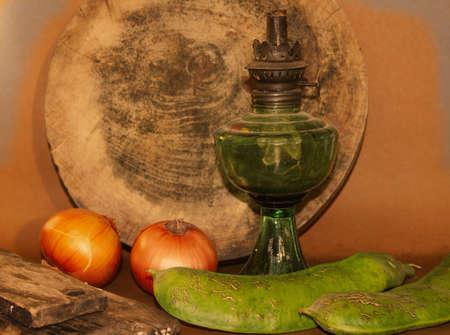 oillamp: Old rusty oil