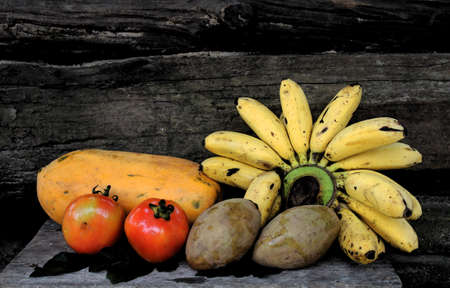 Close up of a selection of fresh fruit.  photo