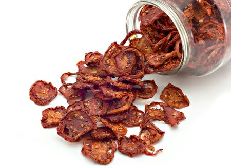 Dried tomatoes got enough sleep from a glass jar