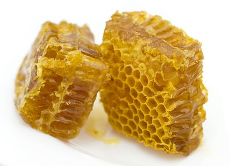 honeycombs  isolated on white background Imagens