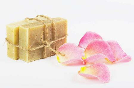 natural hygienic means made hands, flower, petals Stock Photo - 7581636