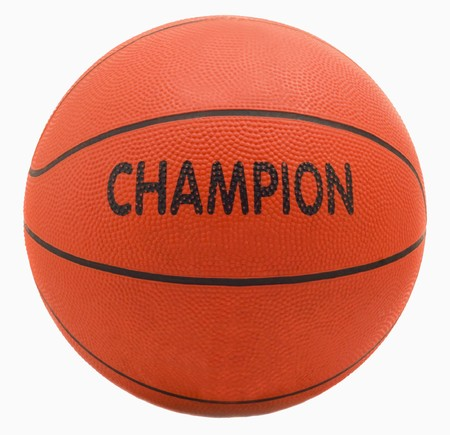 Ball for game in basketball of orange colour isolated on white background Stock Photo - 7581720