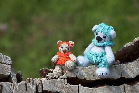 amabilidad: Los niños de oso de juguete Foto de archivo