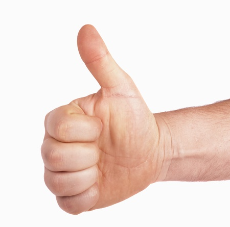 hand showing thumbs up photo