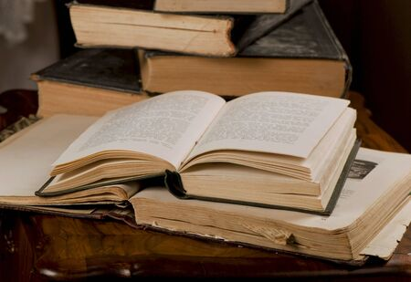 opened old books Stock Photo - 12514371