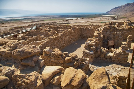 ���archeological site���: Archeological site, Qumran, Israel  Stock Photo