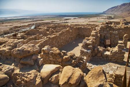 jewish group: Archeological site, Qumran, Israel  Stock Photo