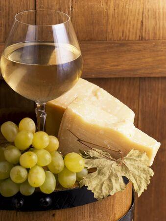 Glasse of white wine photo