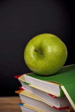 books and an apple photo