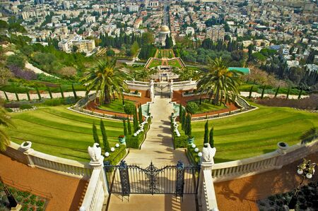 Bahai temple, Haifa, Israel photo