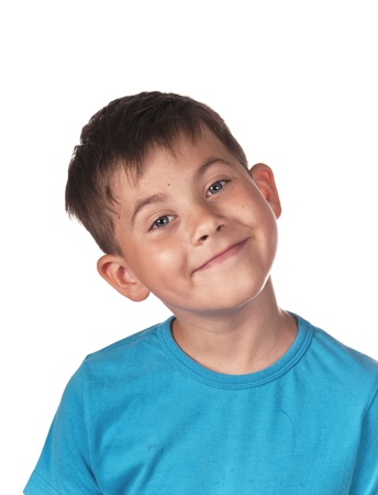 boy smiles, ridiculous person