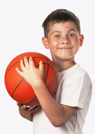Young Boy In Basketball Team