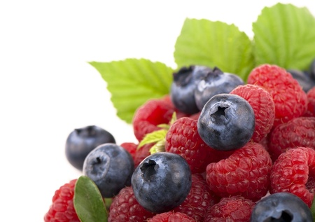 Strawberries, blueberries photo