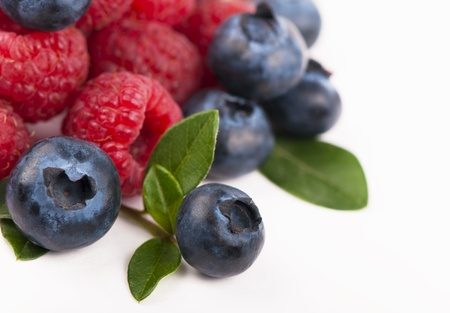 Blueberries, raspberries Stock Photo