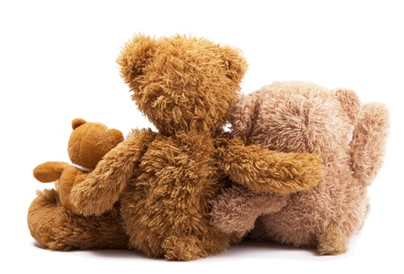 Three teddy bears photo