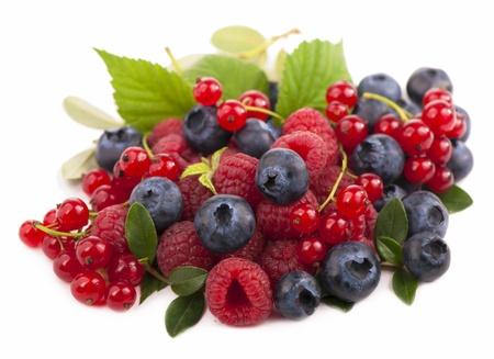 Handful of berries photo