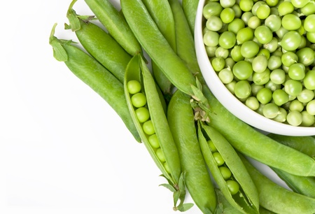 Bowl with green peas Stock Photo - 19266010