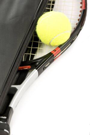 raquet: tennis racquet and ball