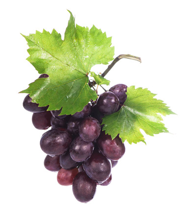 red bunch of grapes  on white background, isolated Imagens