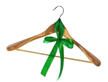 clotheshanger: clothes hangers on a white background