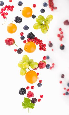 berry mix isolated on a white background
