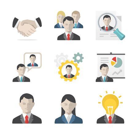 ビジネス人々 のアイコンを設定  イラスト・ベクター素材