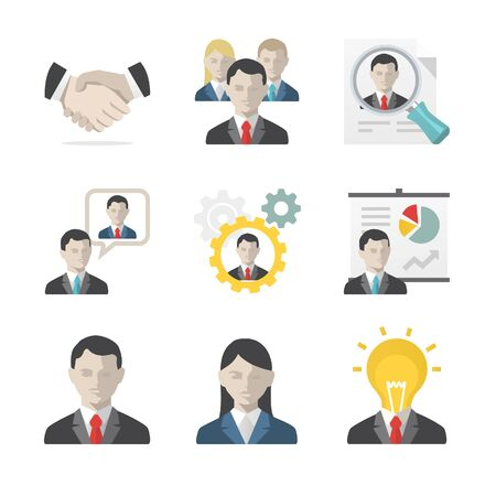 gears: Business people icon set