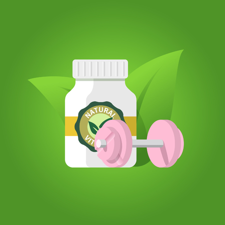 Pharmacology and fitness illustration.