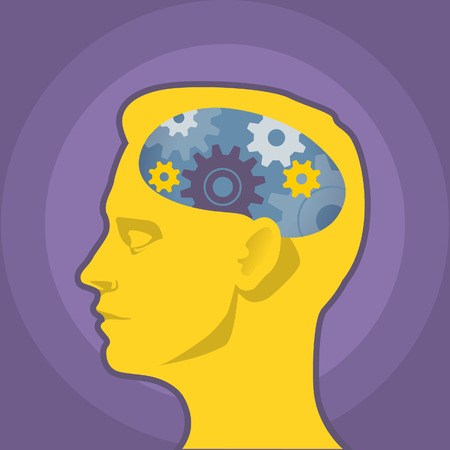 siluette: Thinking head illustration