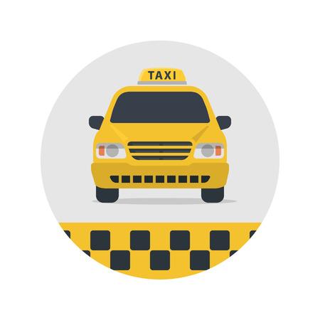 タクシー記号ベクトル イラスト。  イラスト・ベクター素材