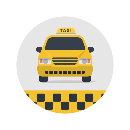 Taxi sign vector illustration.