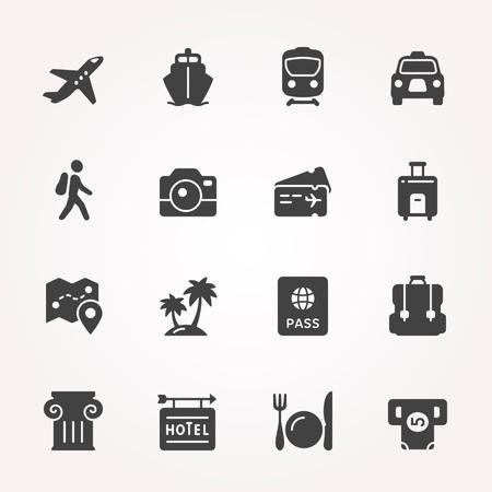 旅行と交通機関アイコンを設定。