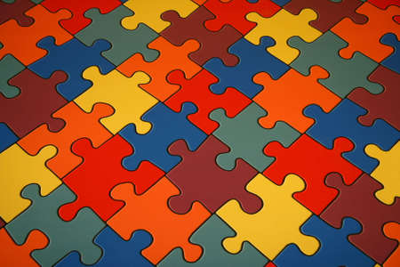 Background from colour puzzles. Stock Photo - 6811856