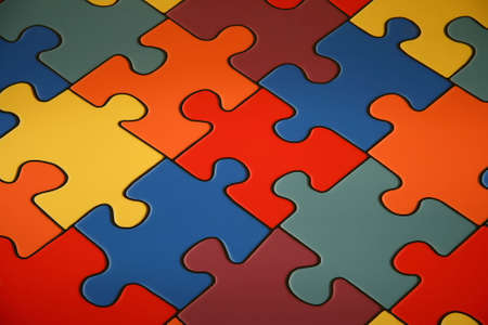 Background from colour puzzles. Stock Photo - 6995362