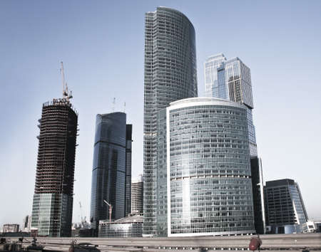 Building of high-rise buildings of the Moscow business centre photo