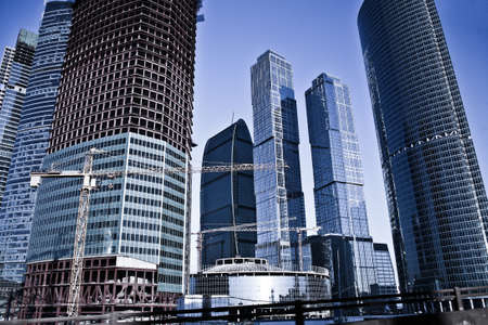 business centre: Many-storeyed modern buildings of the Moscow business centre Stock Photo