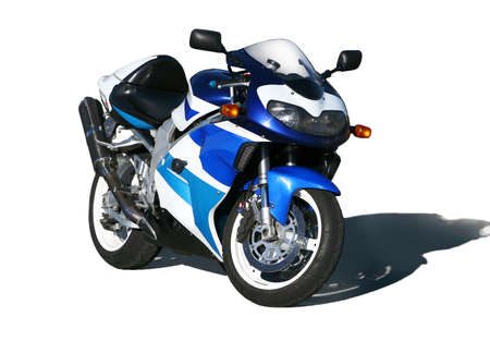 motorbikes: The motorcycle costing on the area on evening on a decline.