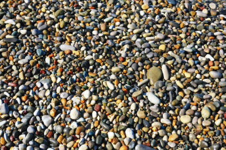 Smooth, beautiful, wet, brilliant, sea pebbles on seacoast. Stock Photo - 12332016