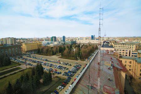 chelyabinsk: Central square of city of Chelyabinsk  kind from height of the bird Editorial