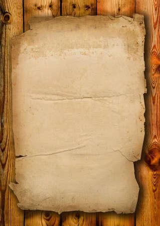 Vecchia carta con bordi frammentarie nelle vecchie schede Archivio Fotografico