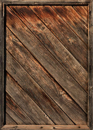 Background from rough old wooden diagonal laths photo