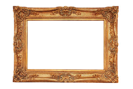 gilt: gilt frame in ancient style with an ornament isolated