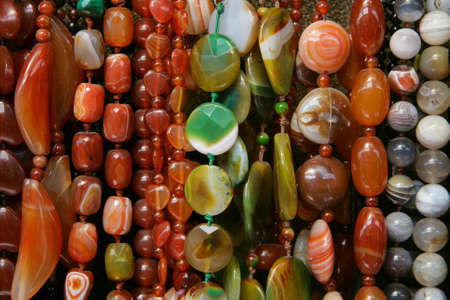 Background ofcolour beads of different form Stock Photo - 13218701