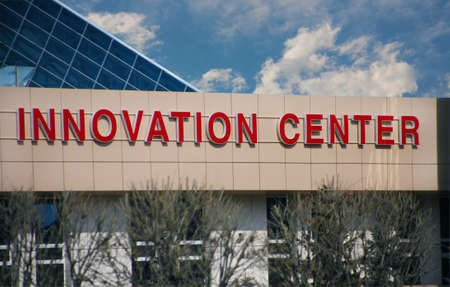 Inscription on office building the innovation centre