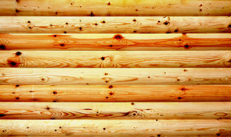 Wall from smooth convex pine boards Stock Photo - 13844497