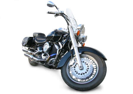 big brilliant motorcycle on white background