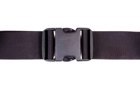 Black fabric belt with  plastic fastener photo