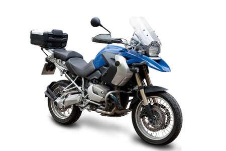 motor cycle: big brilliant motorcycle on white background