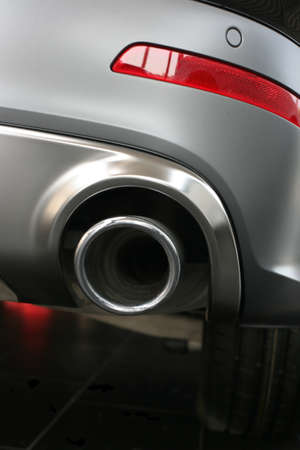 exhaust pipe and back part of new car Stock Photo - 17201452